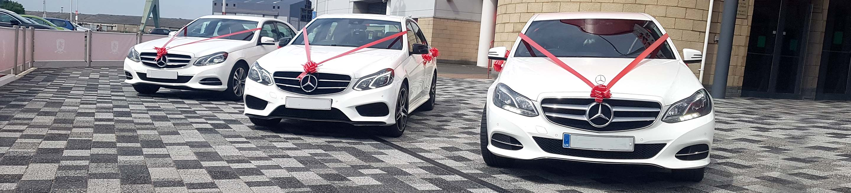 White Mercedes E class wedding car Teesside